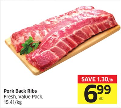 Pork Back Ribs Fresh - Value Pack - 15.41/kg