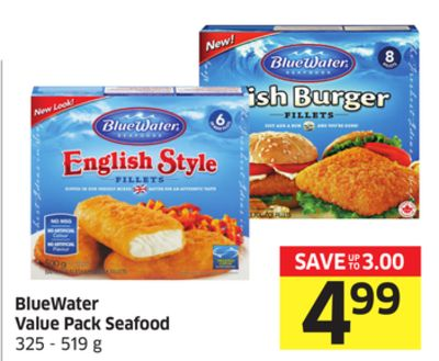 Bluewater Value Pack Seafood 325 - 519 g