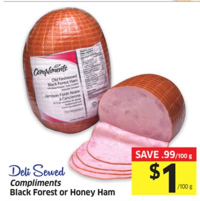 Compliments Black Forest or Honey Ham