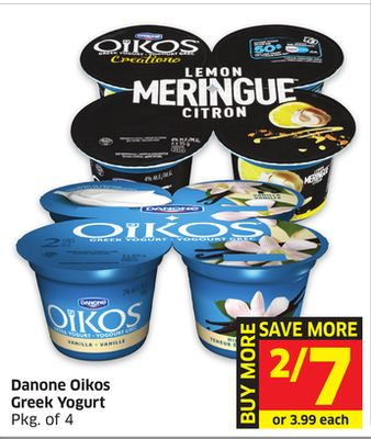 Danone Oikos Greek Yogurt Pkg of 4