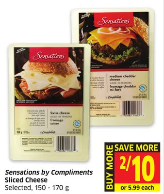 Sensations By Compliments Sliced Cheese Selected - 150 - 170 g