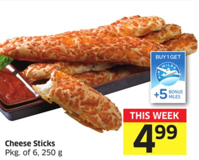 Cheese Sticks Pkg of 6 - 250 g - 5 Air Miles Bonus Miles