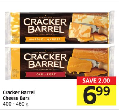 Cracker Barrel Cheese Bars 400 - 460 g