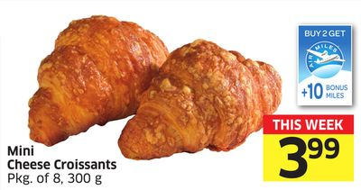 Mini Cheese Croissants Pkg of 8 - 300 g - 10 Air Miles Bonus Miles