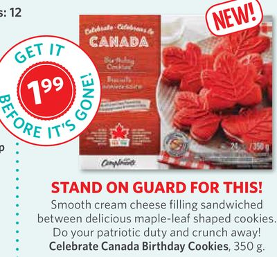 Celebrate Canada Birthday Cookies - 350 g