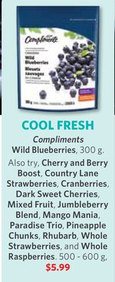 Compliments Wild Blueberries - 300 g