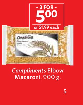 Compliments Elbow Macaroni - 900 g