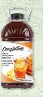 Compliments Iced Tea Natural Lemon Flavour 3.78 L