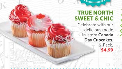 Canada Day Cupcakes. 6-pack