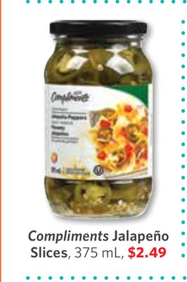 Compliments Jalapeño Slices - 375 mL