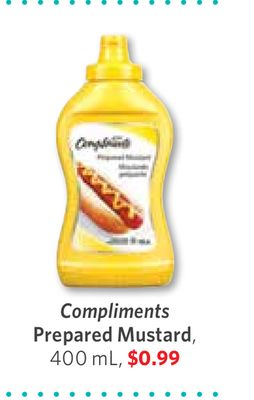 Compliments Prepared Mustard - 400 mL