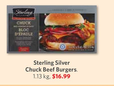Sterling Silver Chuck Beef Burgers. 1.13 Kg