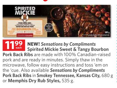 Sensations By Compliments Spirited Mickie Sweet & Tangy Bourbon Pork Back Ribs