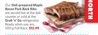 Deli-prepared Maple Bacon Pork Back Ribs