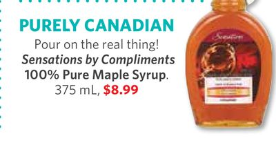 Sensations By Compliments 100% Pure Maple Syrup 375 ml