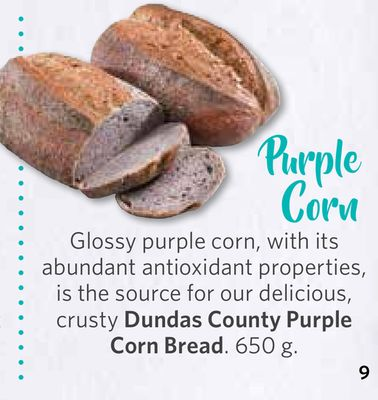 Dundas County Purple Corn Bread. 650 g