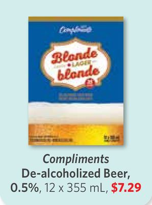 Compliments De-alcoholized Beer - 0.5% - 12 X 355 mL