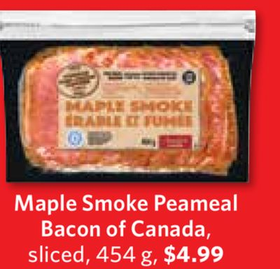 Maple Smoke Peameal Bacon of Canada - Sliced - 454 g