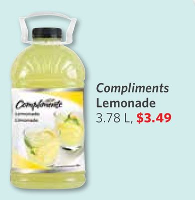 Compliments Lemonade 3.78 L