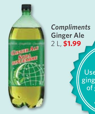 Compliments Ginger Ale 2 L