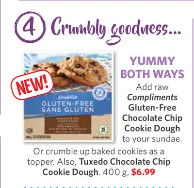 Compliments Gluten-free Chocolate Chip Cookie Dough - Tuxedo Chocolate Chip Cookie Dough. 400 g