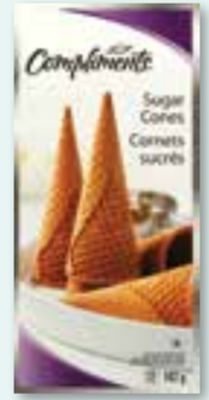 Compliments Sugar Cones - 12-pack