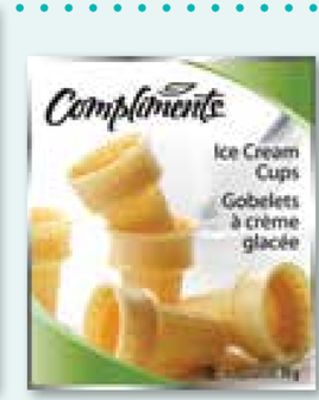 Compliments Ice Cream Cups 18-pack