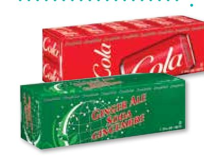 Compliments Soft Drinks In Ginger Ale and Diet Cola. Also - Red or Blue Cola - Lemon-lime - Club Soda - Root Beer and More. 12 X 355 mL
