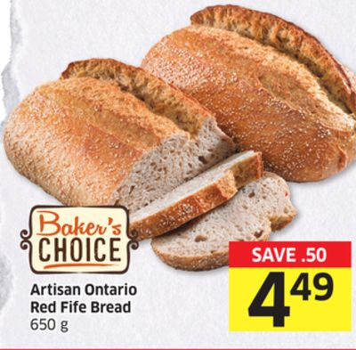 Artisan Ontario Red Fife Bread 650 g