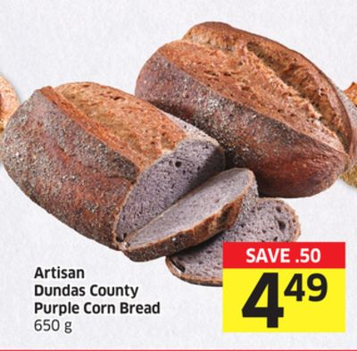 Artisan Dundas County Purple Corn Bread 650 g