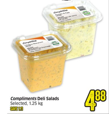 Compliments Deli Salads Selected - 1.25 Kg