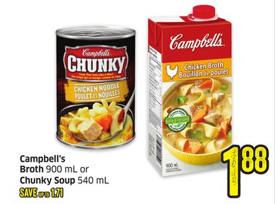 Campbell's Broth 900 mL or Chunky Soup 540 mL