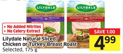 Lilydale Natural Sliced Chicken or Turkey Breast Roast Selected - 175 g