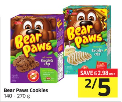 Bear Paws Cookies 140 - 270 g