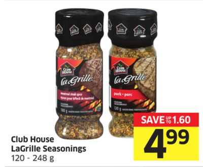 Club House Lagrille Seasonings 120 - 248 g
