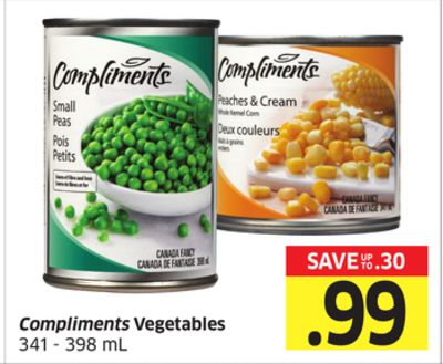 Compliments Vegetables 341 - 398 mL
