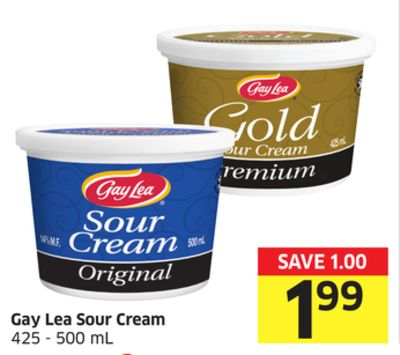 Gay Lea Sour Cream 425 - 500 mL