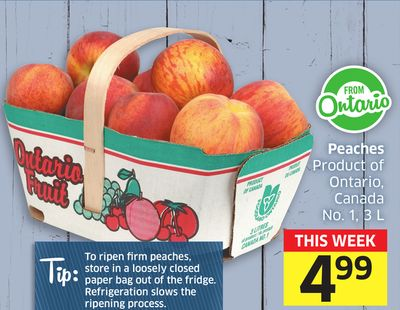 Peaches Product of Ontario - Canada No. 1 - 3 L