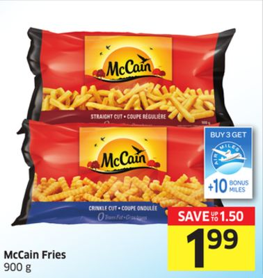 Mccain Fries 900 g - 10 Air Miles Bonus Miles