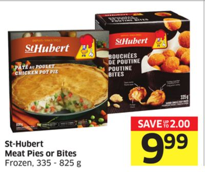 St-hubert Meat Pies or Bites Frozen - 335 - 825 g