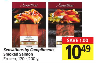 Sensations By Compliments Smoked Salmon Frozen - 170 - 200 g