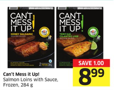 Can't Mess It Up! Salmon Loins With Sauce - Frozen - 284 g