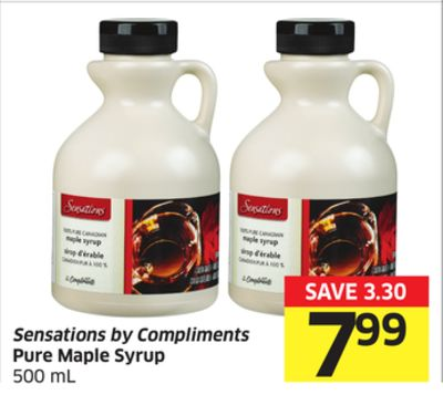 Sensations By Compliments Pure Maple Syrup 500 mL