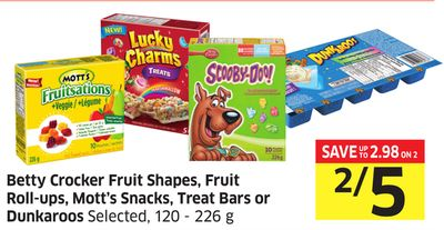 Betty Crocker Fruit Shapes - Fruit Roll-ups - Mott's Snacks - Treat Bars or Dunkaroos Selected - 120 - 226 g