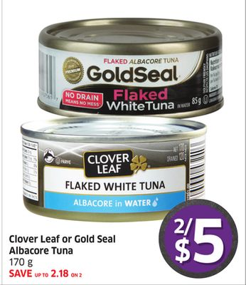Clover Leaf or Gold Seal Albacore Tuna 170 g