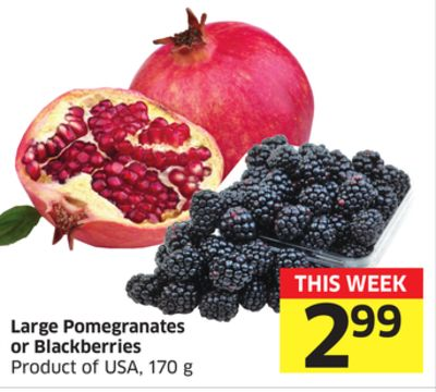 Large Pomegranates or Blackberries Product of USA - 170 g