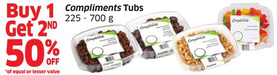 Compliments Tubs 225 - 700 g