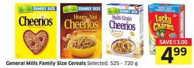 Breakfast General Mills Family Size Cereals Selected - 525 - 720 g