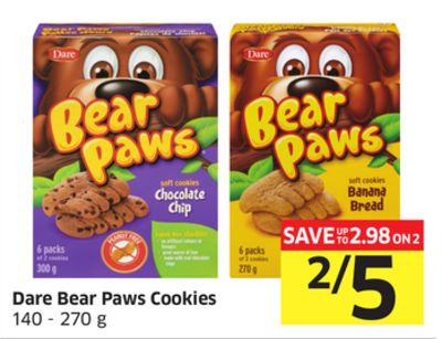 Dare Bear Paws Cookies 140 - 270 g