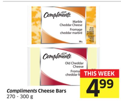 Compliments Cheese Bars 270 - 300 g